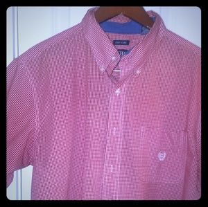 Chaps easy care short sleeve button down